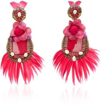 Ranjana Khan Pink Feather Earrings