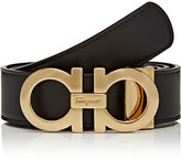 Salvatore Ferragamo Men's Double Gancini-Buckle Reversible Leather Belt