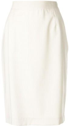 Yves Saint Laurent Pre Owned High-Waisted Tulip Skirt