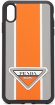 Prada - Logo Stripe Iphone Xs Max Rubber Phone Case - Mens - Orange