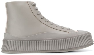 Jil Sander platform hi-top sneakers