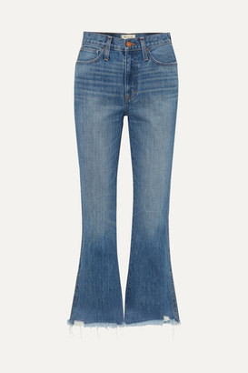 Madewell Rigid Flare Distressed Mid-rise Flared Jeans - Mid denim