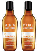 Redken for Men Clean Brew Extra Cleansing Shampoo Duo (2 x 250ml)
