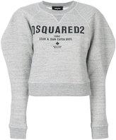 DSQUARED2 logo print puff sleeve sweatshirt