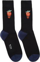 Paul Smith Black Jacquard Socks