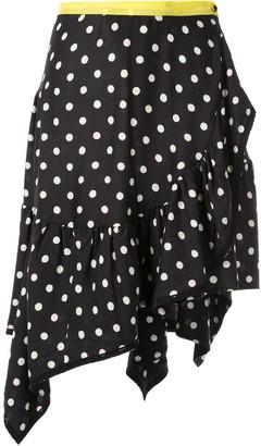 Koché Polka Dot Wrap Skirt