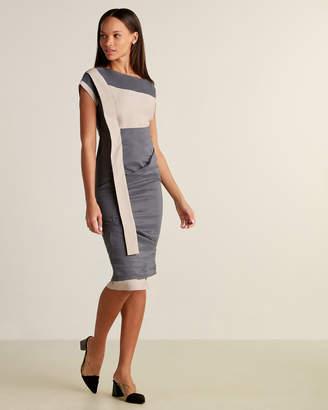 Ixos Color Block Dolman Sleeve Sheath Dress