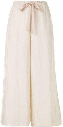 Theory Cropped Linen Trousers