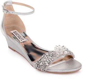 Badgley Mischka Fiery Embellished Ankle Strap Sandal