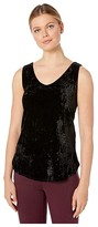 Nic+Zoe Crushed Velvet Tank (Black Onyx) Women's Blouse