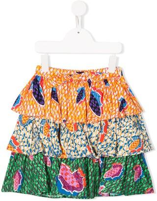 Stella Jean Kids Corn Print Skirt