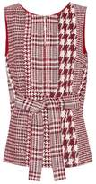 Oscar de la Renta Sleeveless tweed top