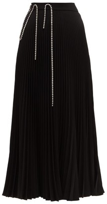Christopher Kane Crystal-embellished Plisse-crepe Skirt - Womens - Black