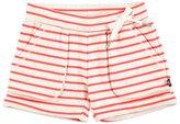 Molo Ara Striped Melange Shorts, Red/White, Size 2T-12
