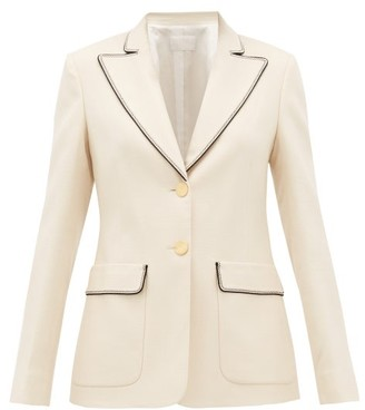 Peter Pilotto Peak-lapel Grain-de-poudre Jacket - Ivory