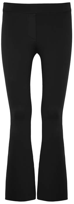Helmut Lang Black Cropped Stretch-jersey Trousers