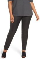 Eileen Fisher Plus Size Women's Leather Front Leggings
