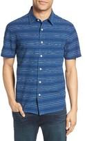 Jack Spade Men's Trim Fit Dobby Stripe Sport Shirt