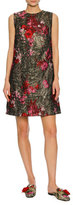 Dolce & Gabbana Sleeveless Bouquet Jacquard Shift Dress, Multi