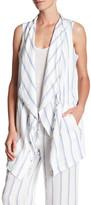 BILLY T Striped Drawstring Vest