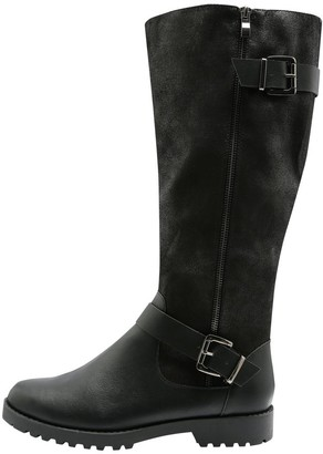 M&Co Londoner two buckle zip high leg boot