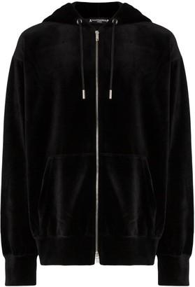 Mastermind Japan skull print velvet hoodie