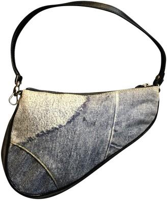Christian Dior Saddle Multicolour Denim - Jeans Clutch bags