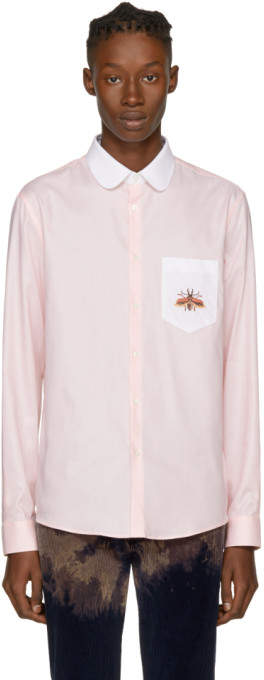 Gucci Pink Embroidered Bee Shirt