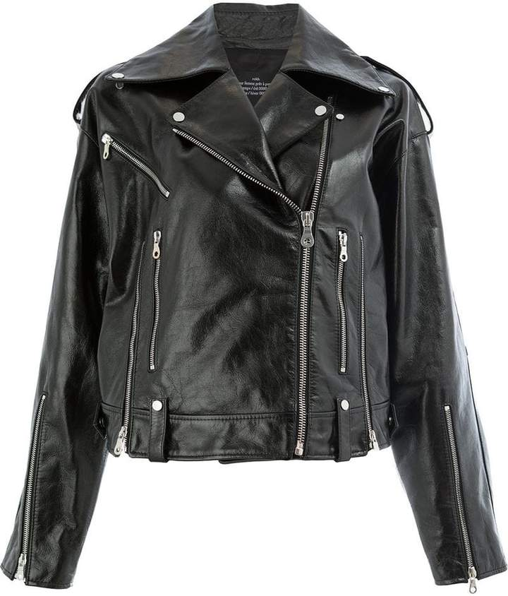 cfd4984e Double Breasted Leather Jacket - ShopStyle