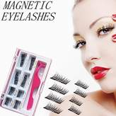 Youke Upgraded Magnetic Eyelashes Plus Tweezers, Long Size and Half Size in One Set, 0.2mm Ultra Thin Magnetic False Eyelashes, 3D Reusable Fake Lashes, Natural Look 2 Pairs / 8 Pieces