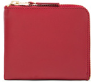 Comme des Garcons Classic Small Zip Wallet in Red.