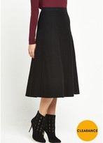 Warehouse Fit And Flare Knitted Skirt - Black