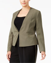 Nine West Plus Size Kiss-Front Blazer