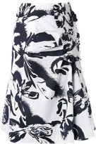 Cédric Charlier abstract print midi skirt - women - Cotton/other fibers - 42