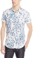 Calvin Klein Jeans Men's Botanical Print Button Down Shirt