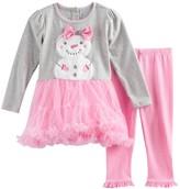 Nannette Toddler Girl Velboa Snowman Dress & Leggings Set