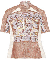 Peter Pilotto Embroidered Lace And Fil Coupé Top - Neutral
