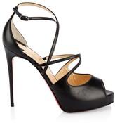 Christian Louboutin Holly Leather Platform Stilettos