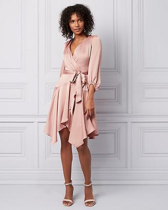 Le Château Satin Wrap-Like Dress