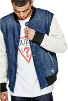 GUESS Men's Contrast Varsity Bomber Jacket