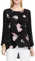Vince Camuto Women's Floral Print Pleat Sleeve Blouse