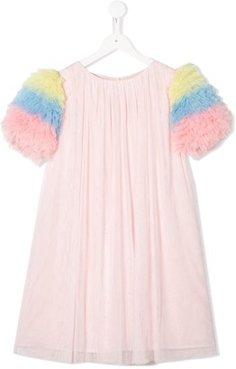 Charabia Ruffled Sleeves Tulle Dress
