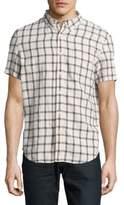 Timberland Short-Sleeve Linen Button-Down Shirt