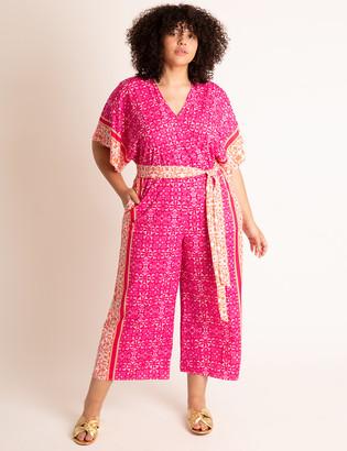 ELOQUII Printed Kimono Jumpsuit