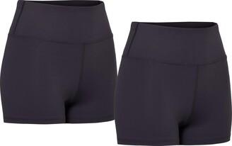 Aurique Amazon Brand Women's 2 Pack Sculpt High Waisted Sports Shorts