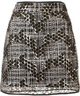 Milly sequined short skirt - women - Nylon/Sequin - 2