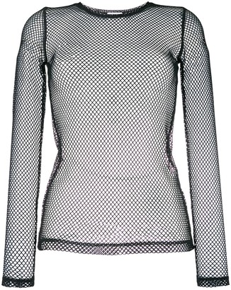 P.A.R.O.S.H. Long-Sleeved Net Top