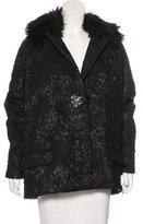 Lanvin Faux Fur-Accented Cloqué Coat