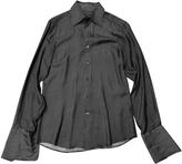 Gucci silk black white striped shirt