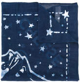 Diesel embroidered scarf